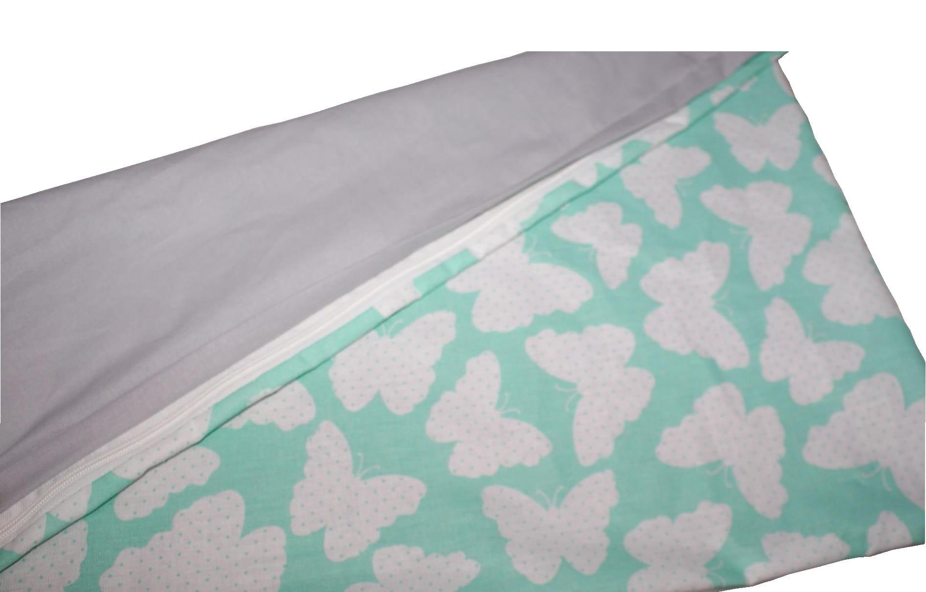 d6f9531e1a7896 Poszewka na poduszkę 40x40 minky + bawełna Pluszowe Sówkowo